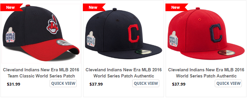 Cleveland Indians World Series Patch 59fifty Caps