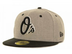 Baltimore Orioles New Era Gray Hound Hat, Fitted 59fifty