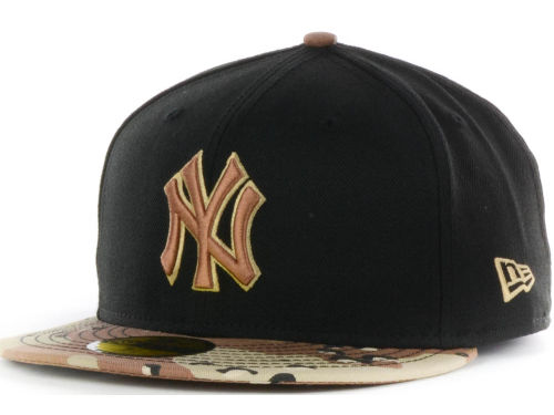 New Era Camo Hats, Black & Camo Brim