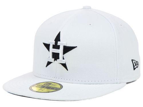 White 59fifty MLB Flat Bill Hats from New Era