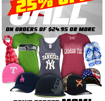 25% off at Lids for Mother's Day