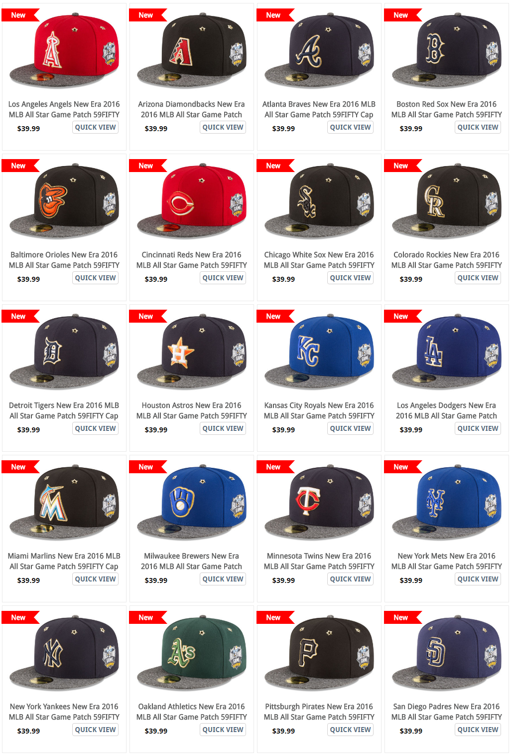 new concept e0161 ce949 2016 All Star Game Hats from New Era, 59fifty on-field cap
