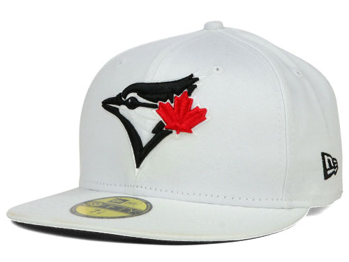 New Era 59FIFTY All White Black Accent Hat