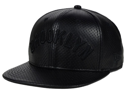 All Black Perforated MLB Snapback Hat by 9FIFTY