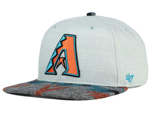 Gray and Orange 47 Brand MLB Snapback Hat