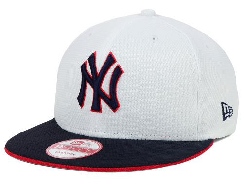 New Era MLB White Snapback Hat, Diamond Era Clearance