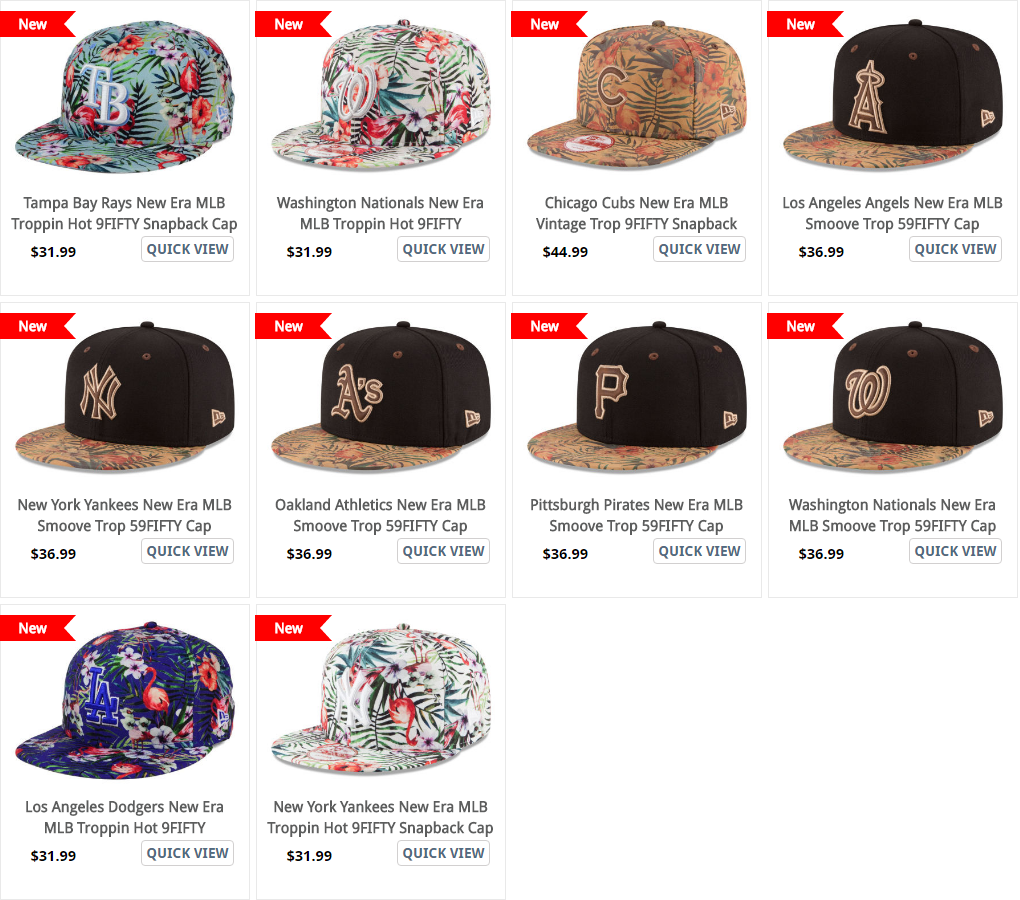 97f0e7eb7f1 ... Tropical Print Smoove Tropic Hats · Troppin Hot MLB HAt from New ERa