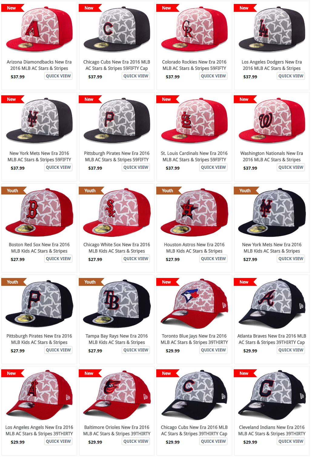 MLB fourth of July caps the stars and Stripes collection 73879d97445