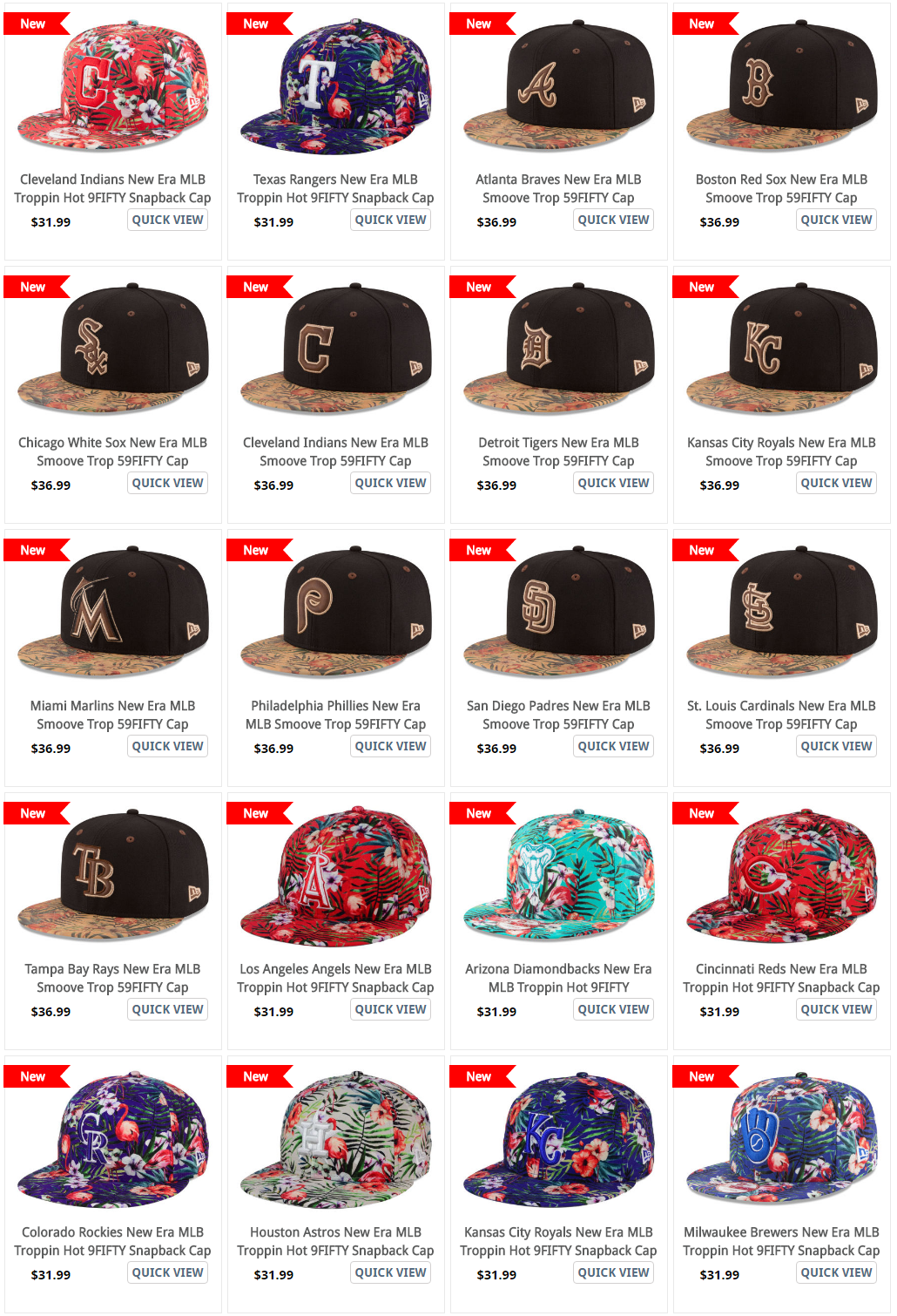b9a496bd8eb ... NEw ERa MLB Tropical Print Smoove Tropic Hats