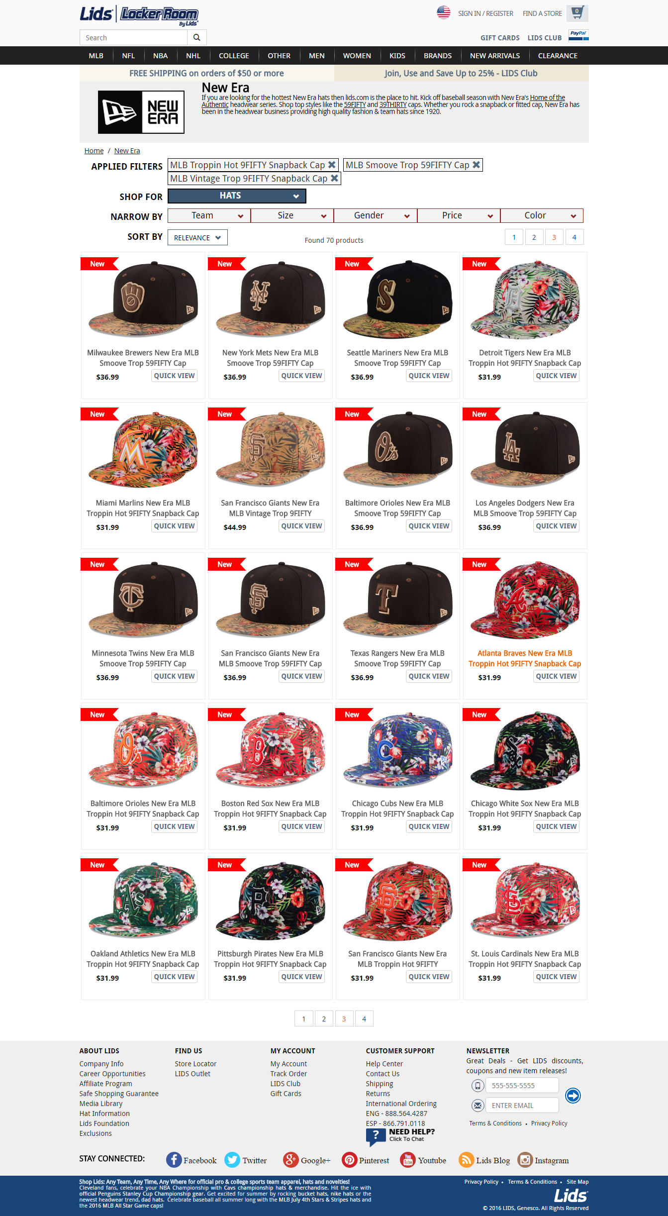 7fe8d1f69a9 New Era Trop print hats 2016 MLB Tropical ...