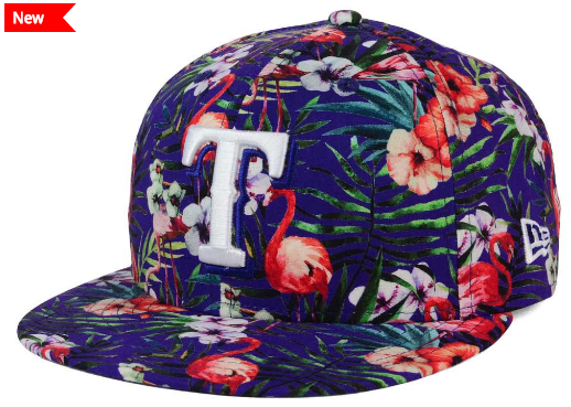 ebb9114d57b Texas Rangers Tropical Print Troppin Hot Cap · New Era ...