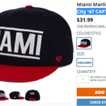 Miami Marlins Forty Seven Brand Cap