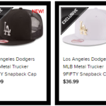 New Era MLB Trucker Hat, white and black