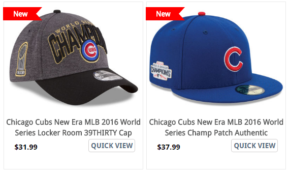 2016 World Series Championship Caps Chicago Cubs