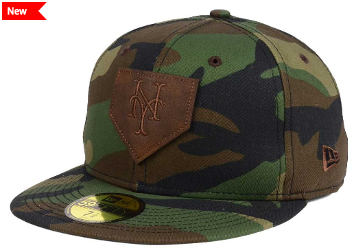 Leather Patch Woodland Camo Cap - New Era MLB cdd5a1521cf