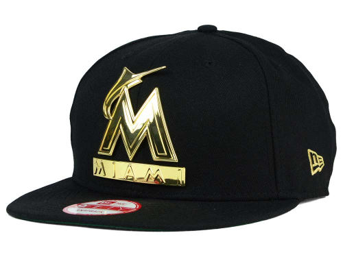 Mlb Gold Plated Logo On Black 9fifty Snapback Hat